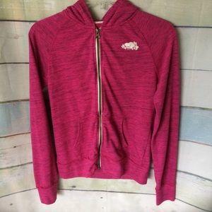 Girls Roots Canada 🇨🇦 Pink Zip up Jacket